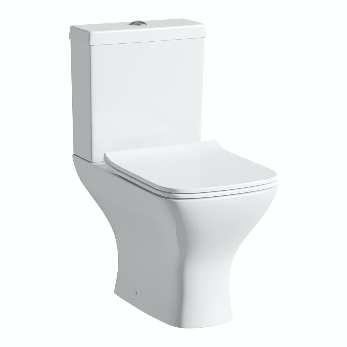 Orchard Derwent square compact close coupled toilet with slimline soft close toilet seat with pan connector