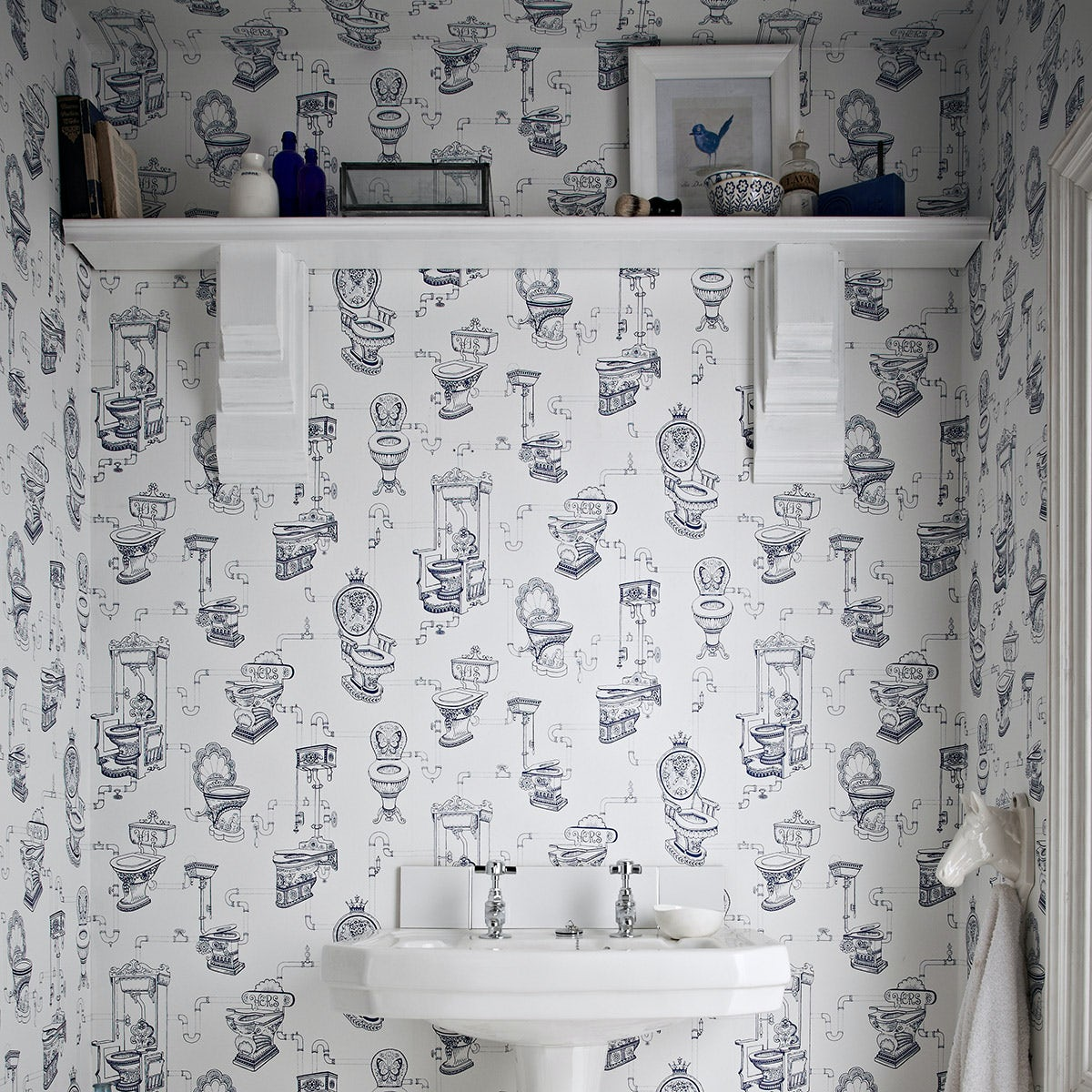 Loo loo kitchen and bathroom wallpaper for Graham and brown bathroom wallpaper