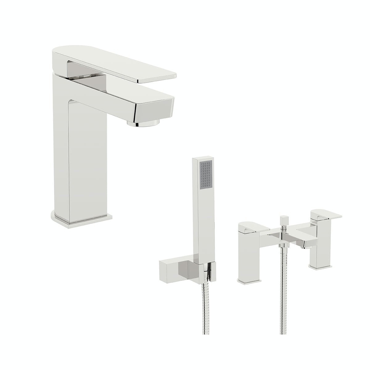 Mode Ellis basin and bath shower mixer tap pack