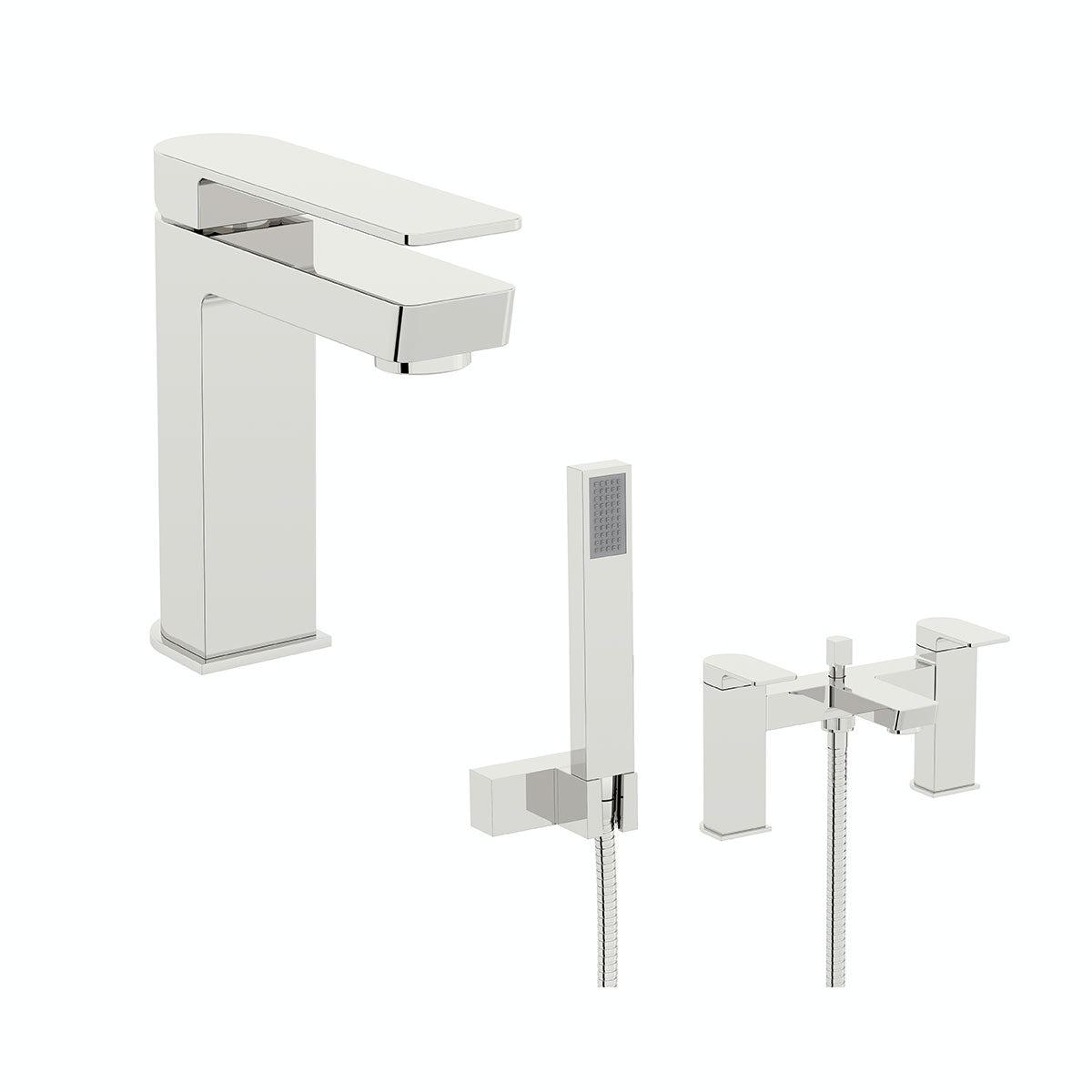 Mode Ellis basin and bath shower mixer tap pack
