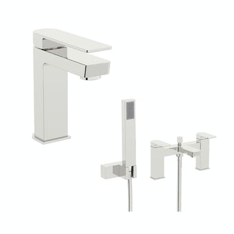 Newport Basin and Bath Shower Mixer Pack