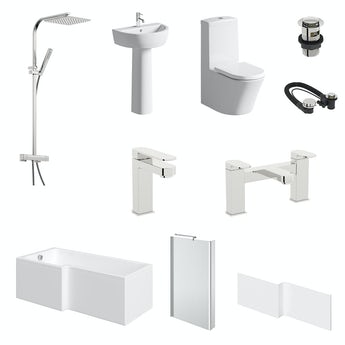 Mode Arte L-shaped left hand complete bathroom package