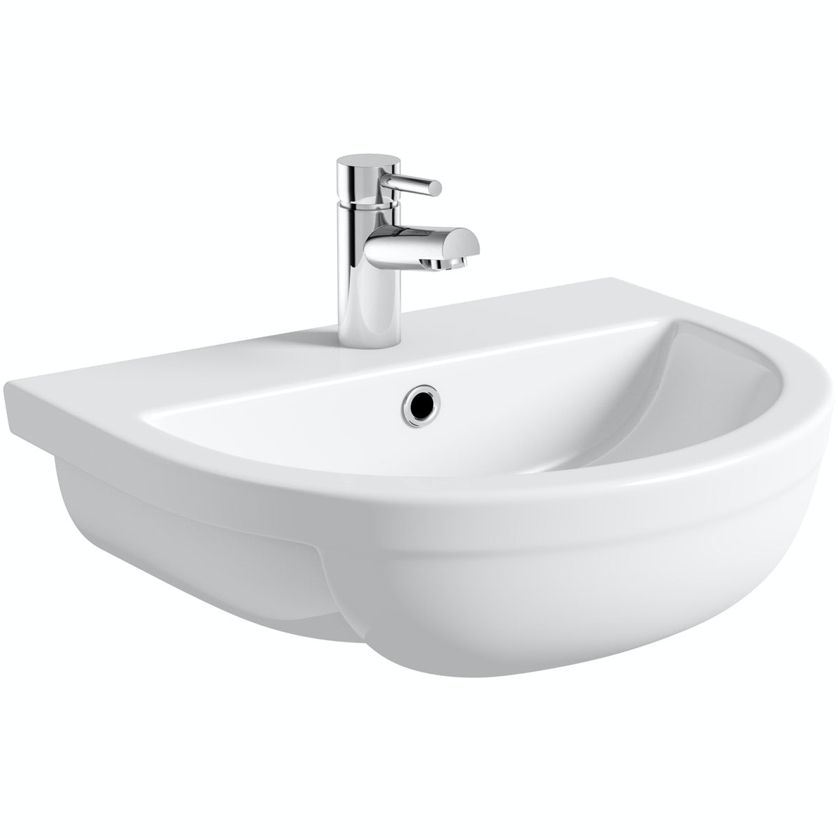 Orchard Elena 1 tap hole semi recessed counter top basin 500mm