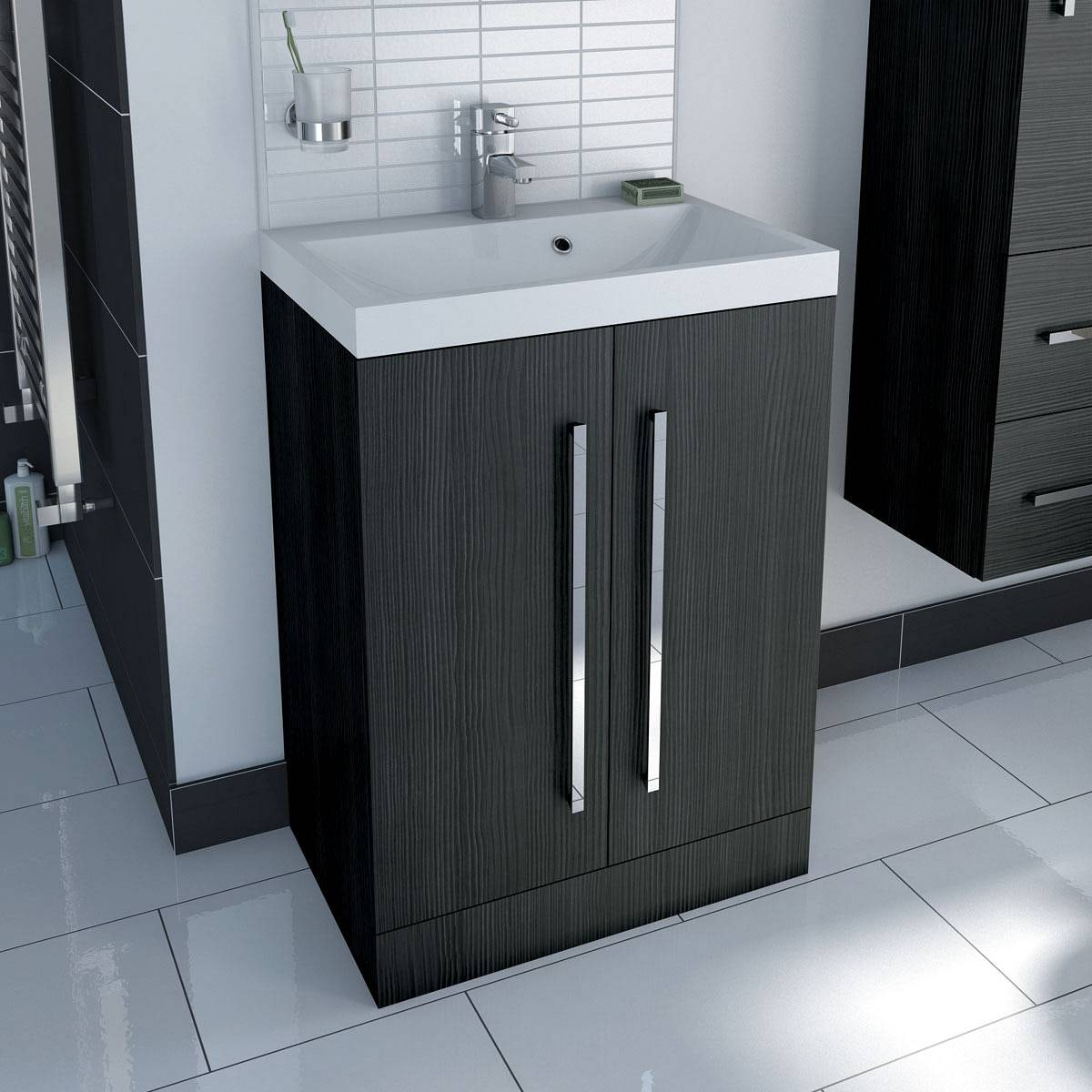 Drift essen vanity unit with basin 600mm for Bathroom vanity units without sink