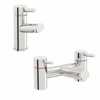 Matrix basin and bath mixer tap pack