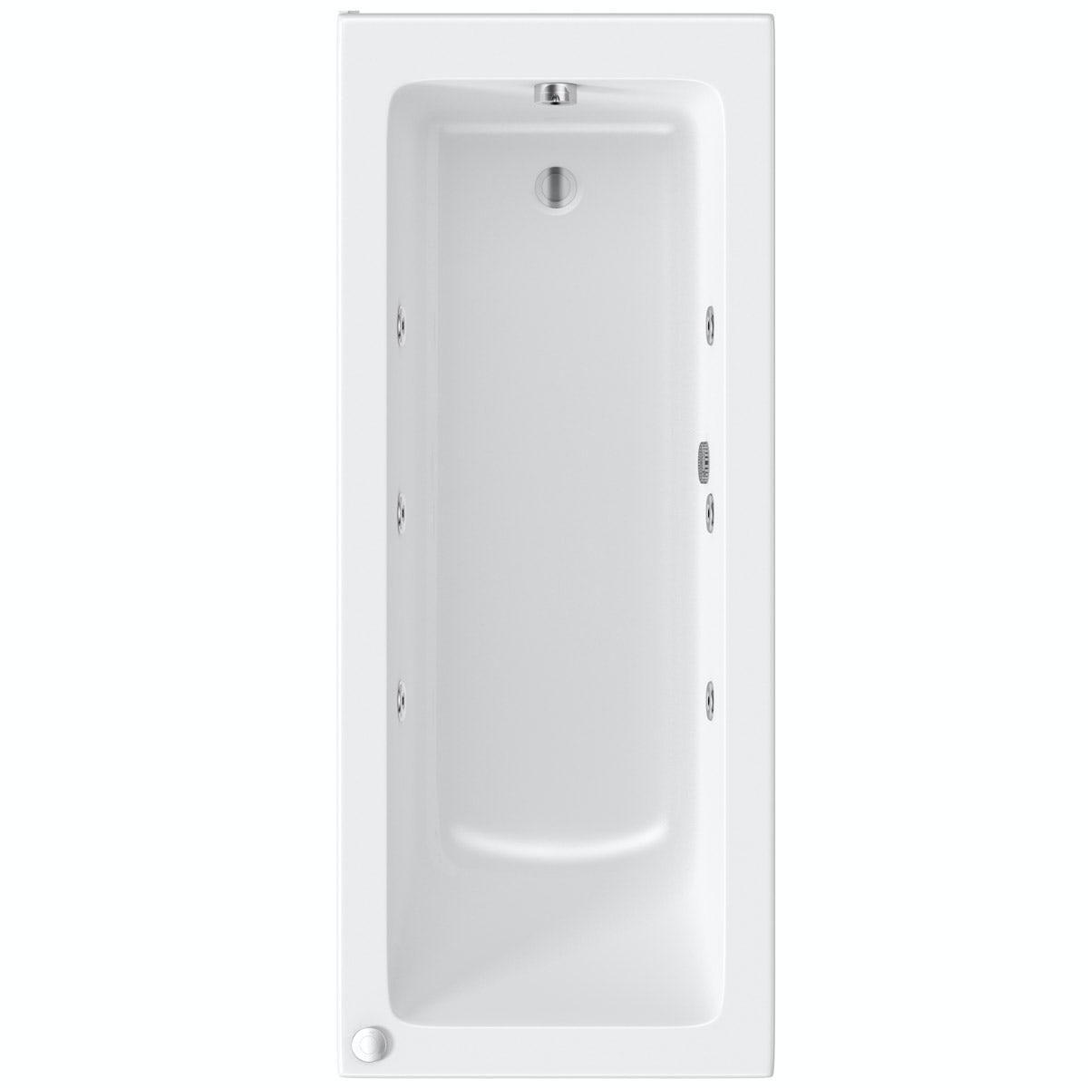 Mode Kensington single end 6 jet whirlpool bath 1700 x 700