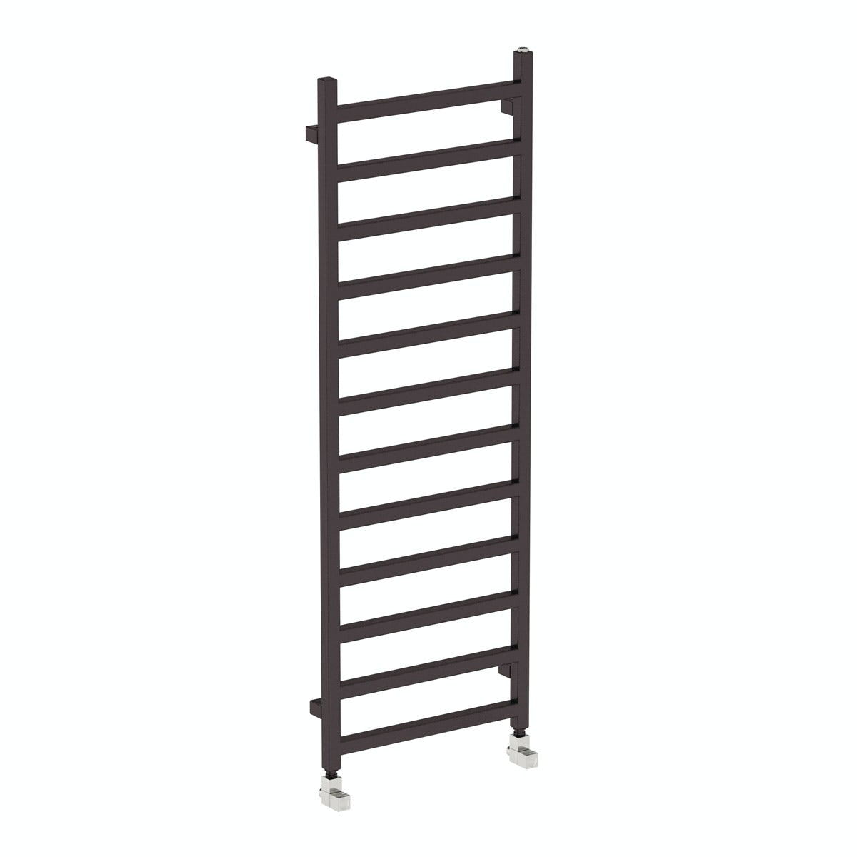 Terma Simple meteor black heated towel rail 1440 x 500