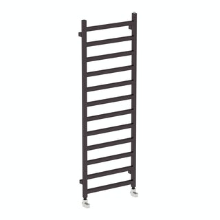 Simple meteor black heated towel rail 1440 x 500
