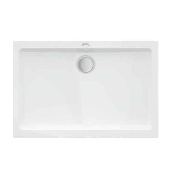 Jacuzzi the Essentials matt white acrylic shower tray 1200 x 800