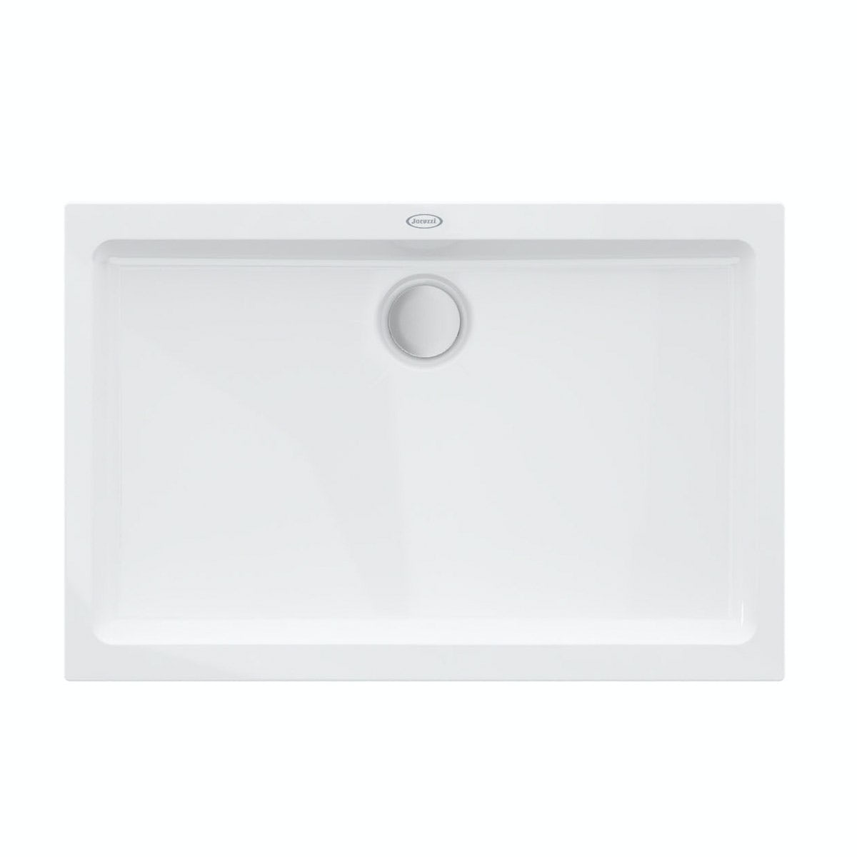 Jacuzzi Essentials matt white acrylic shower tray 1200 x 800