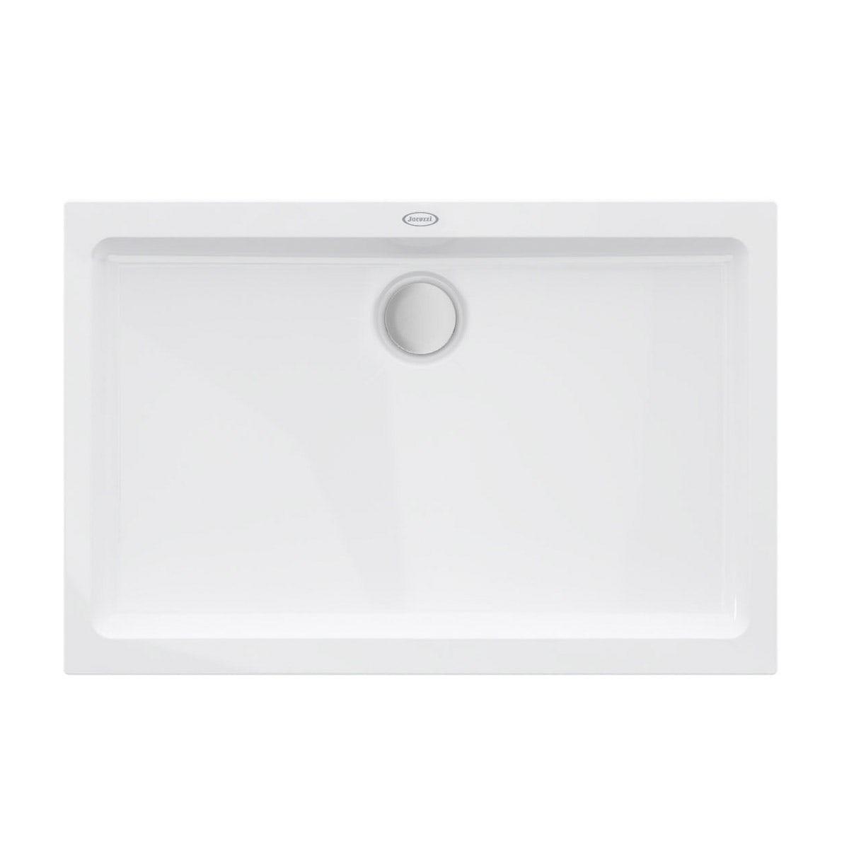 Jacuzzi Essentials matt white acrylic shower tray 1200 x 800
