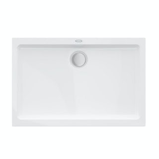 Jacuzzi the Essentials matt white acrylic shower tray 1200 x 800
