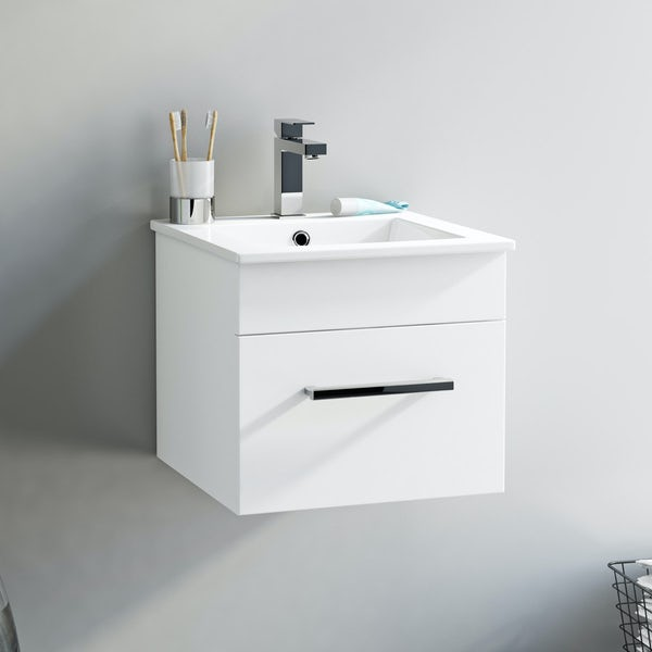 Derwent wall hung cloakroom vanity unit 420mm
