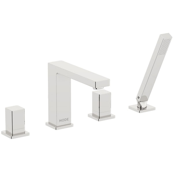 Mode Austin basin and 4 hole bath shower mixer tap pack