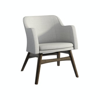 Sloane walnut and grey armchair