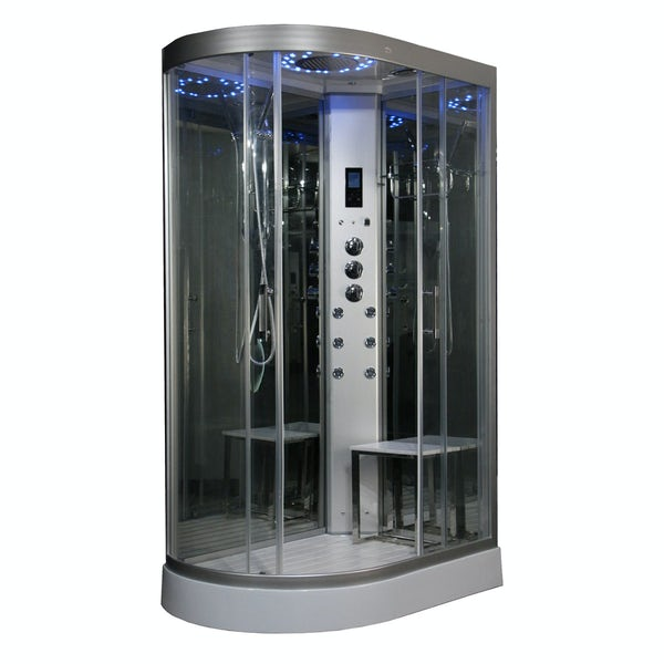 Insignia right handed offset quadrant steam shower cabin 1200 x 800