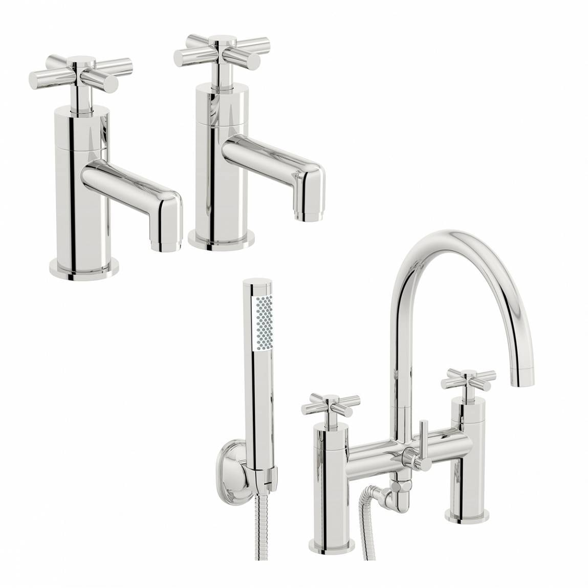 Mode Tate basin tap and bath shower mixer tap pack