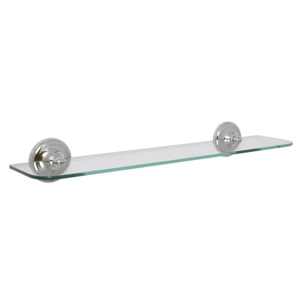 Croydex Grosvenor chrome glass shelf
