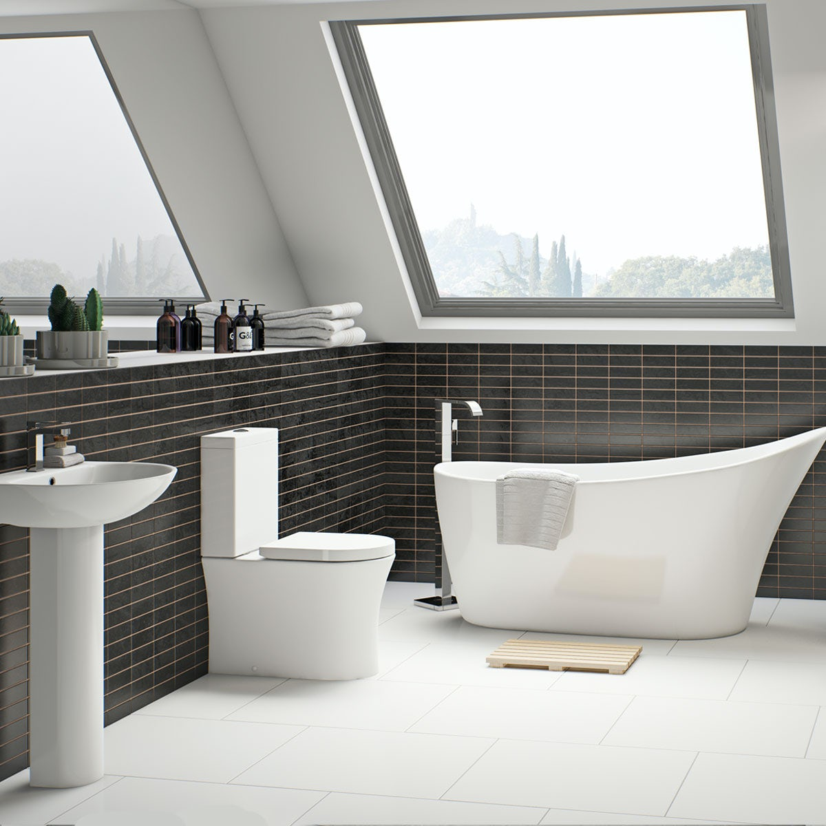 Free Delivery Hardy Bathroom Suite With Freestanding Bath