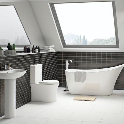 Hardy bathroom suite with freestanding bath