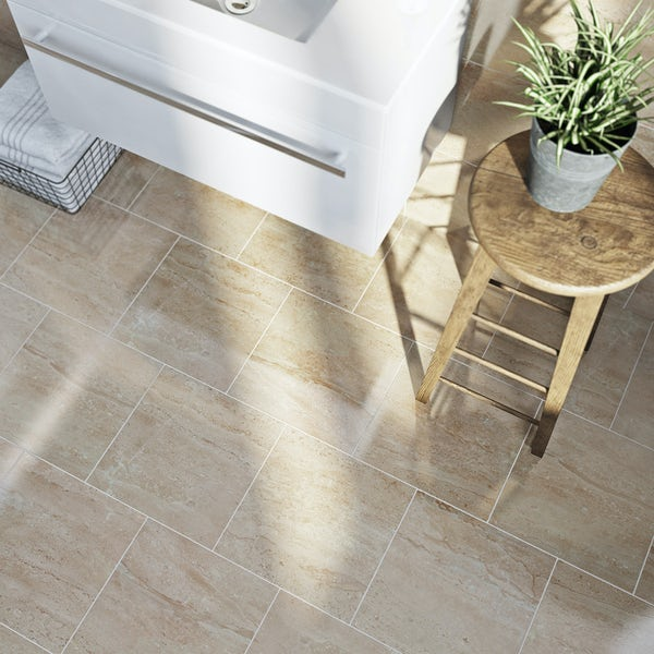 British Ceramic Tile Lux beige gloss tile 331mm x 331mm