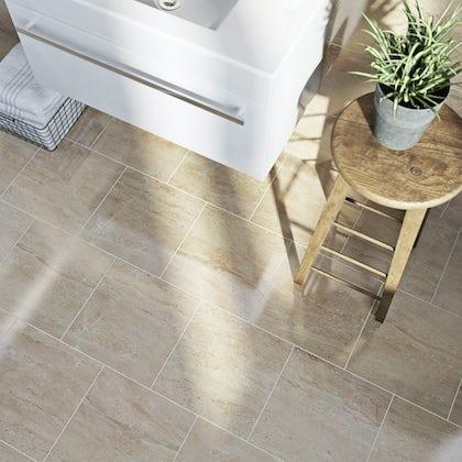 British Ceramic Tile Lux beige gloss tile 331mm x 331mm