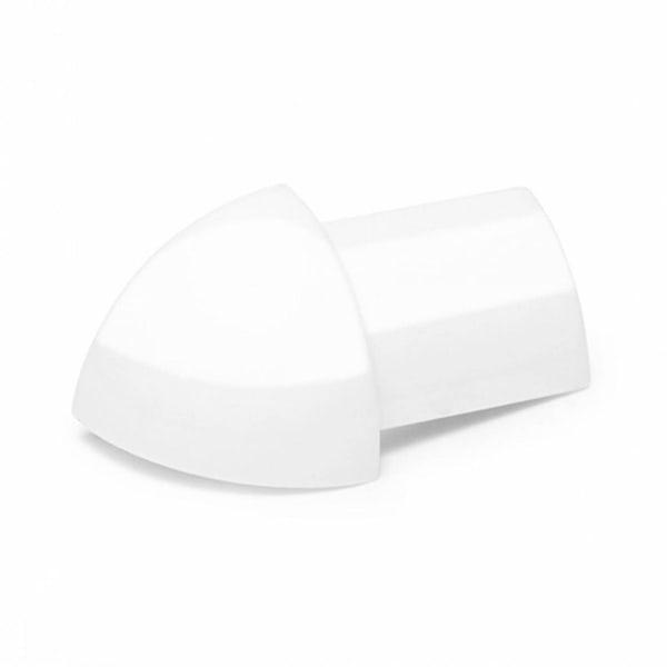 PVC Super Gloss White Tile Trim Corners (Pack of 2)