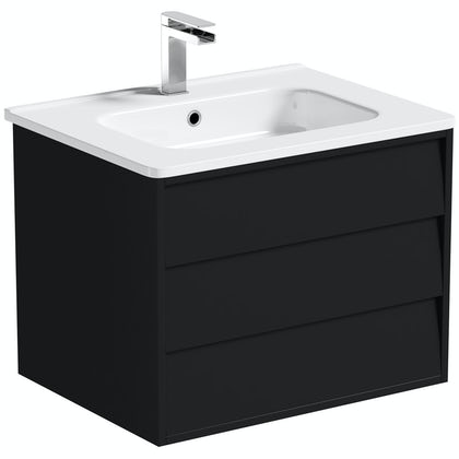 Mode Cooper anthracite wall hung vanity unit and basin 600mm