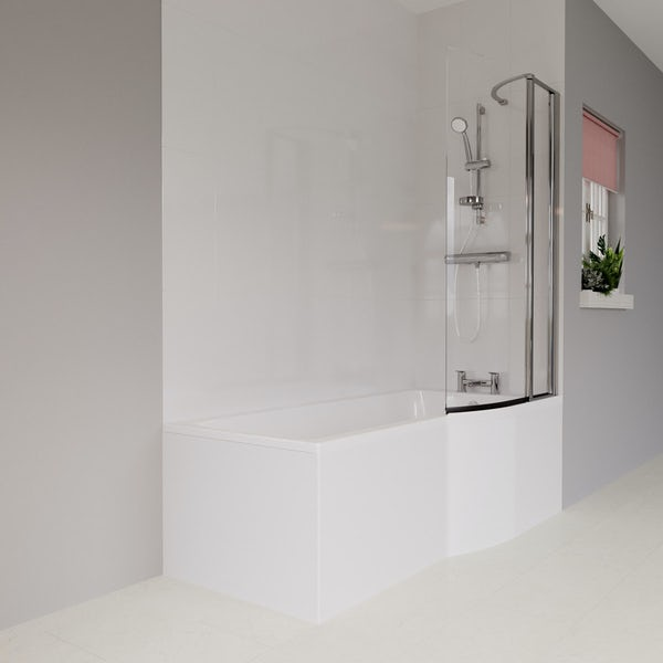 Ideal Standard Concept Air complete right hand white furniture and shower bath suite 1700 x 800
