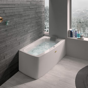 Jacuzzi Essentials right handed compact offset corner whirlpool bath