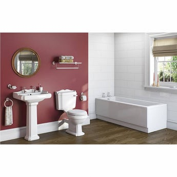 The Bath Co. Winchester bathroom suite with straight bath 1700 x 700