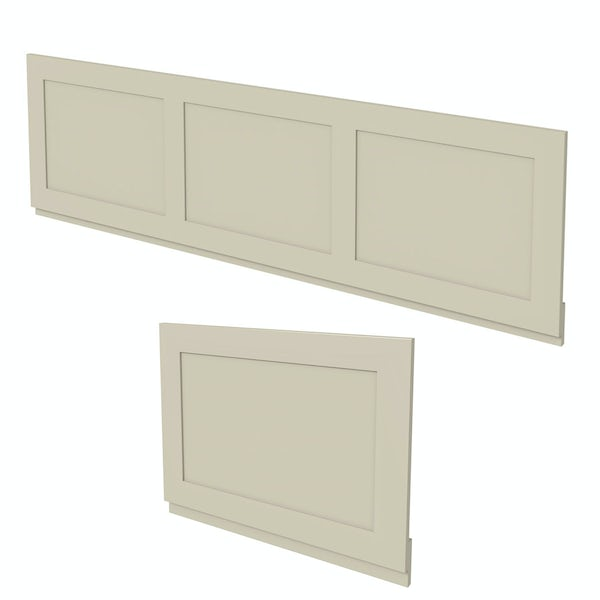 The Bath Co. Camberley satin ivory panel pack