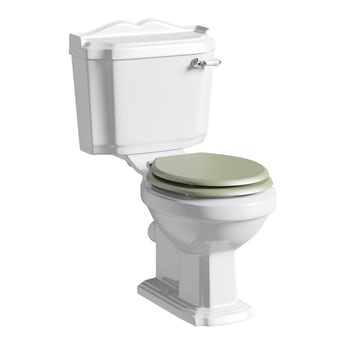 The Bath Co. Winchester close coupled toilet inc sage soft close seat with pan connector