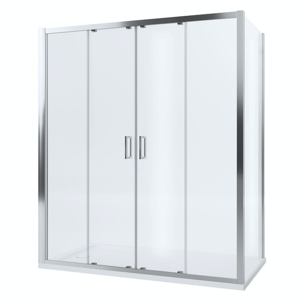 Mira Leap double sliding shower door 1700mm