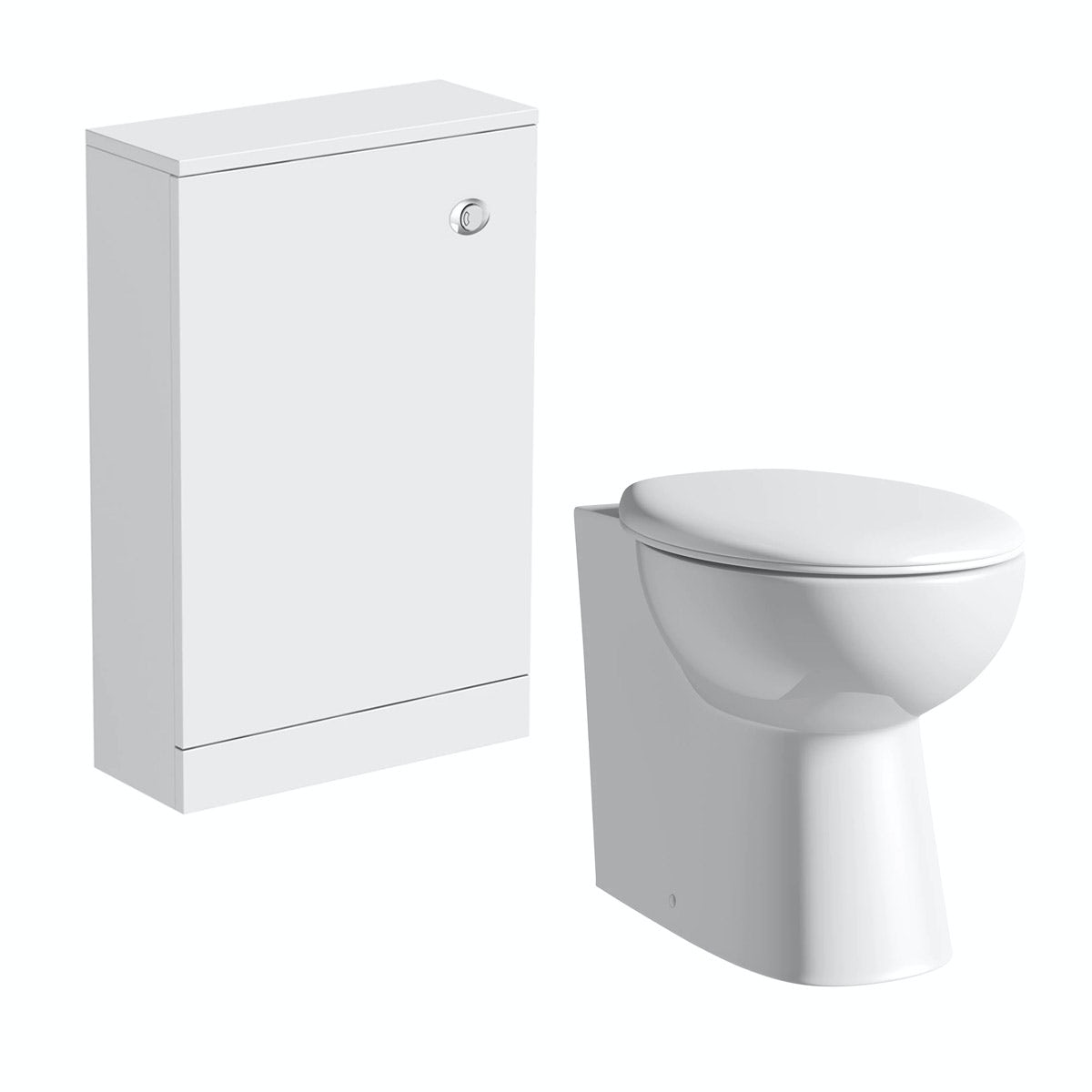 Clarity white back to wall toilet unit and toilet with seat