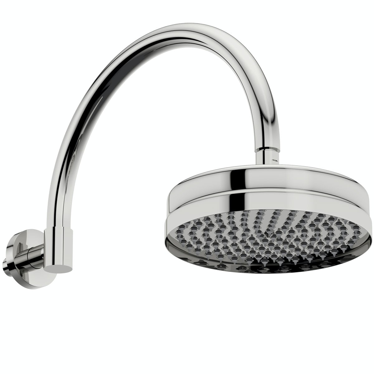 The Bath Co. Camberley shower head with traditional wall arm