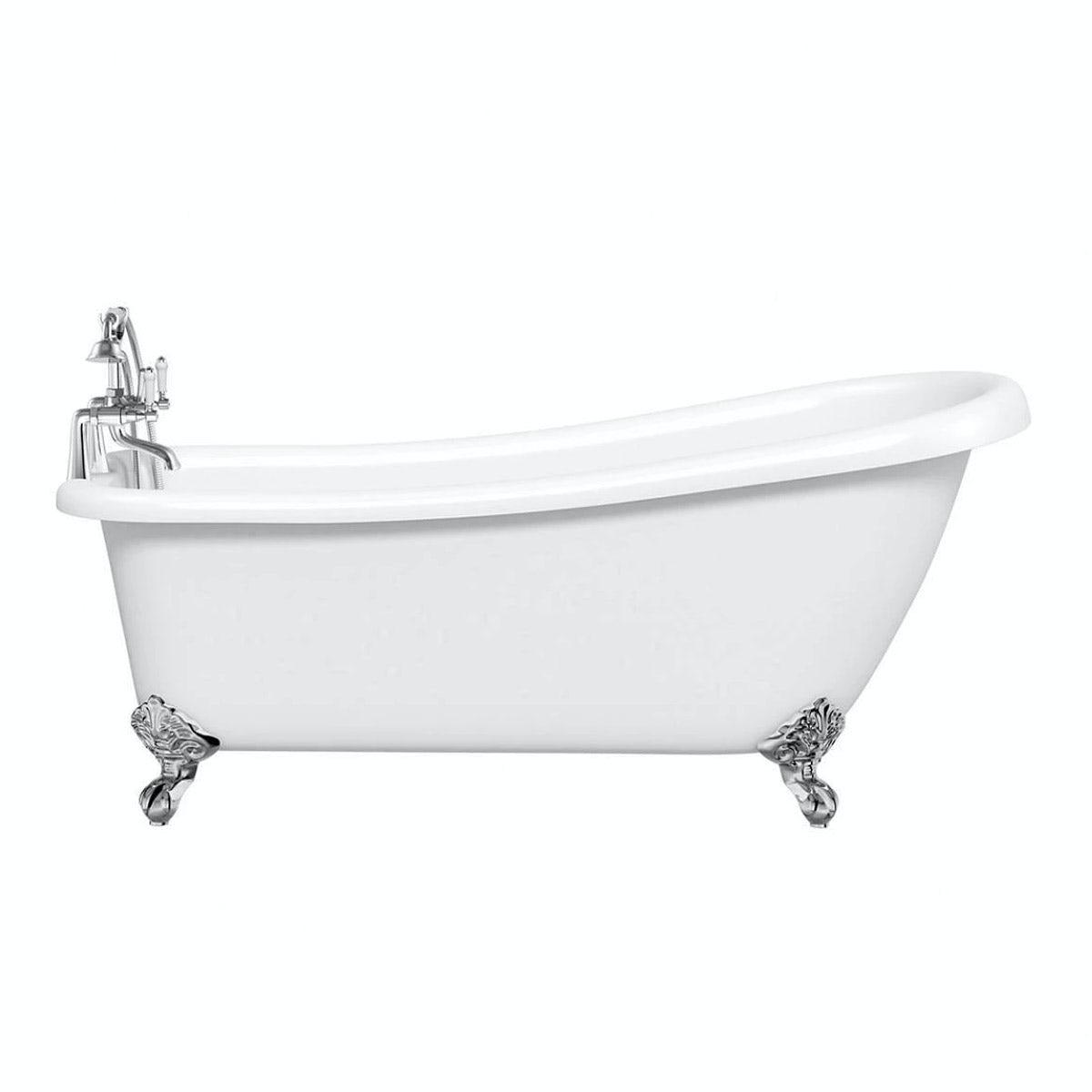 The Bath Co. Winchester slipper bath with ball feet 1680 x 780