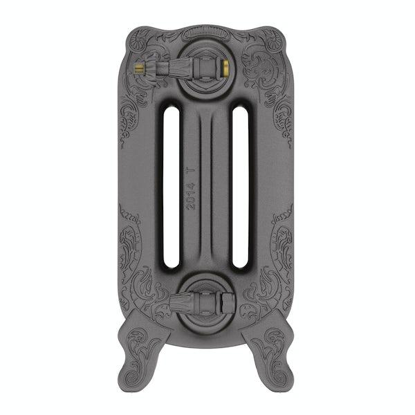 Oxford raw metal freestanding cast iron radiator 470 x 1180