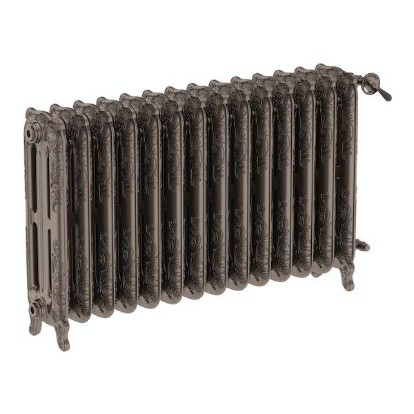 Oxford russet freestanding cast iron radiator 710 x 1180