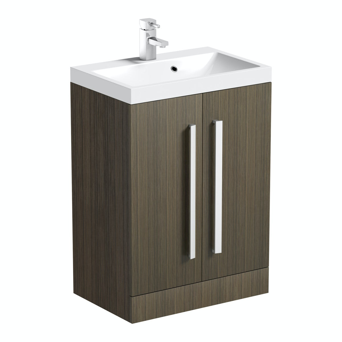 Orchard Wye walnut vanity unit with basin 600mm