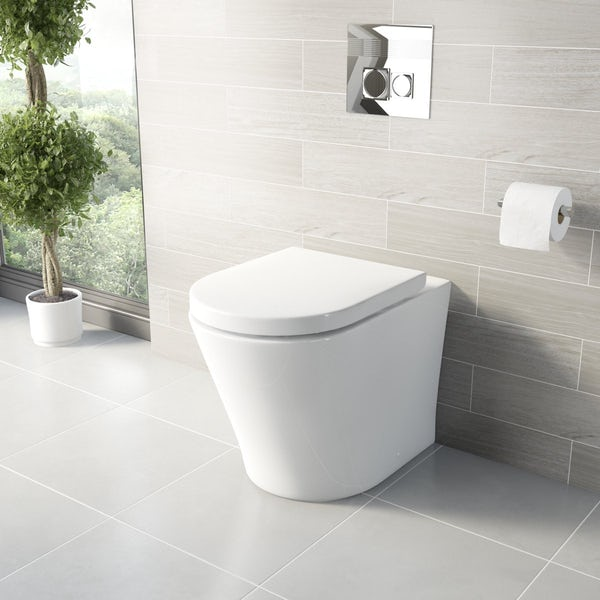 Arte Back to Wall Toilet and Basin Suite