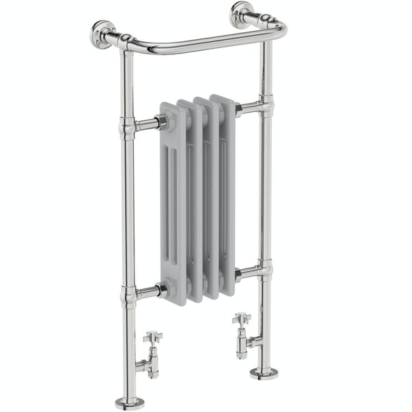 The Bath Co. traditional satin grey radiator 952 x 479