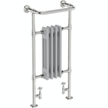 The Bath Co. traditional satin grey radiator 952 x 479