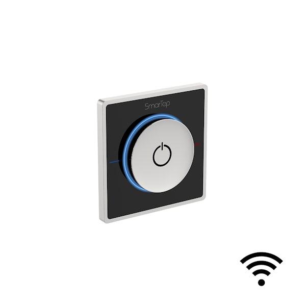 SmarTap black smart shower system with complete square wall shower bath set