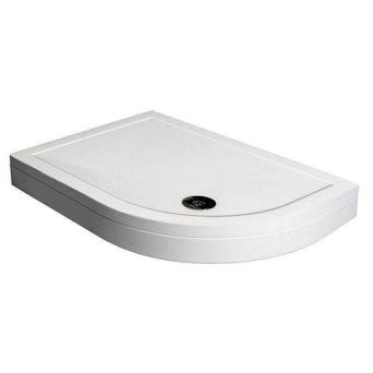 Offset Quadrant Stone Shower Tray & Riser Kit 900 x 760 RH