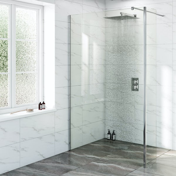 Mode Renzo square slim stainless steel shower head 400mm