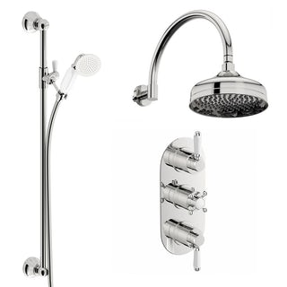 Coniston Thermostatic Wall Shower & Slide Rail Set