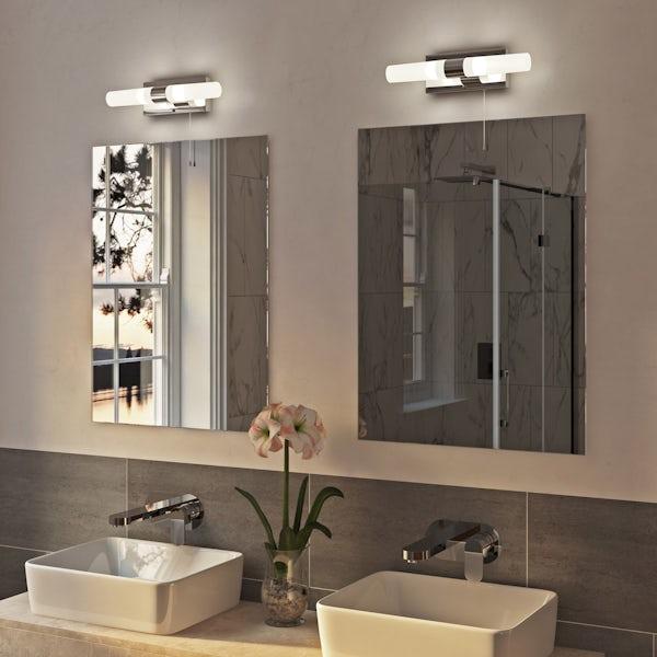 Arinna 2 light over mirror bathroom light