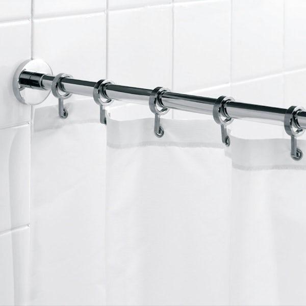 Croydex Luxury round shower curtain rail| VictoriaPlum.com