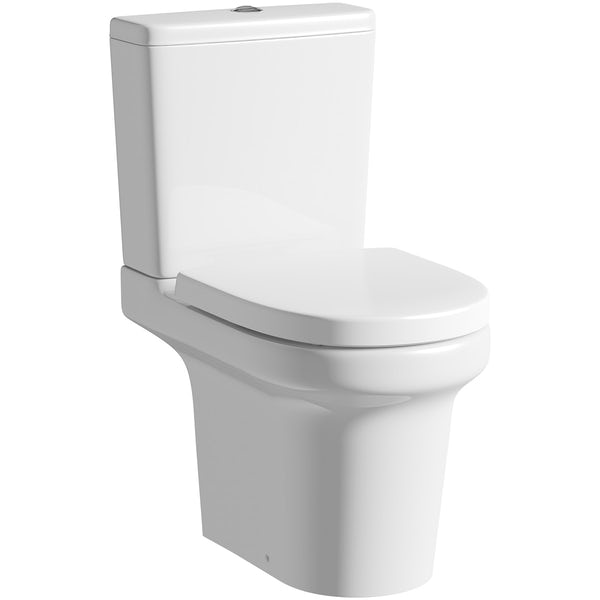 Mode Burton cloakroom suite with full pedestal basin 550mm